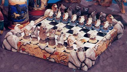 Wildlife chess set